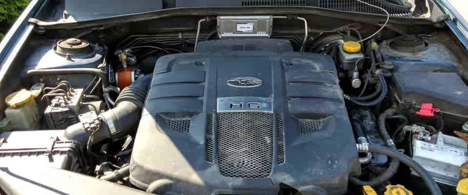 Subaru komora silnika zamontowana instalacja lpg