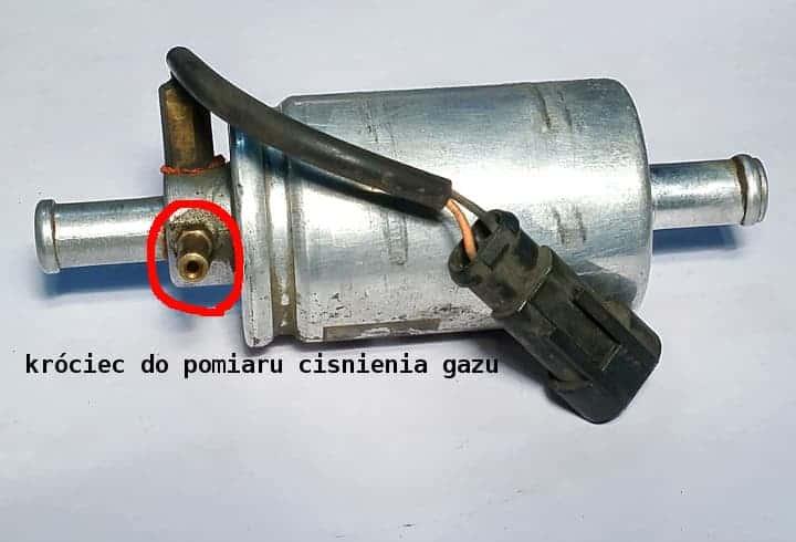 filtr gazu lpg z króćcem do pomiaru ciśnienia lpg