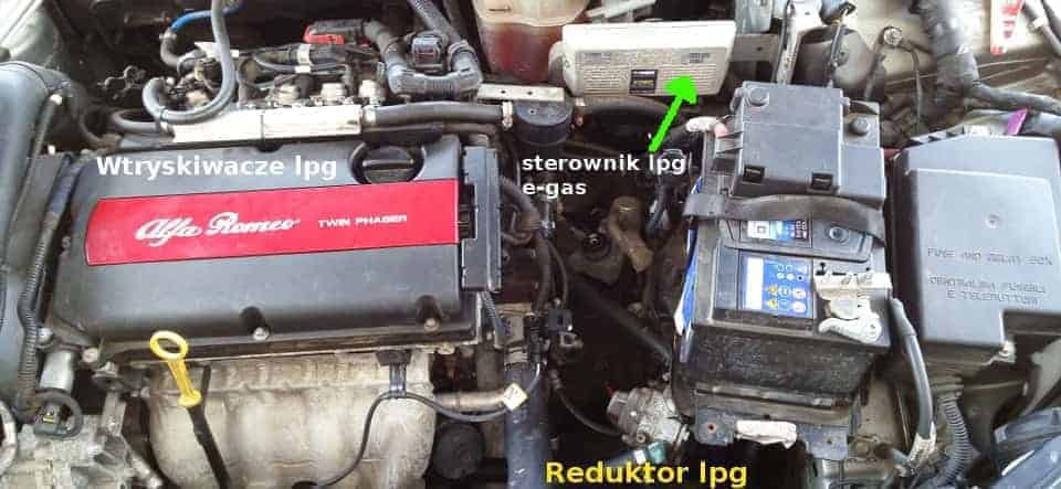 instalacja lpg e-Gas sekwencja