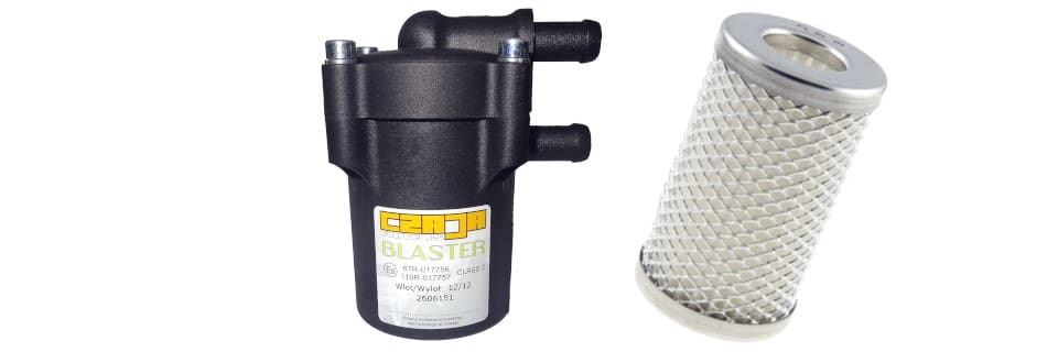 Filtr gazu czaja Blaster oraz wkład filtrujący