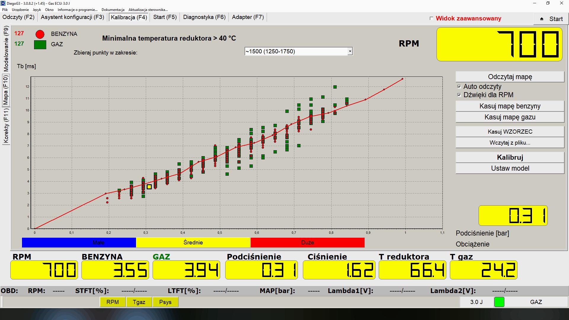 sterownik KME Diego kalibracja instalacji lpg