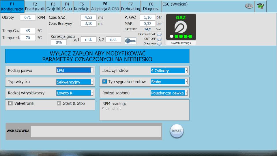 Lovato Smart Konfiguracja instalacji lpg