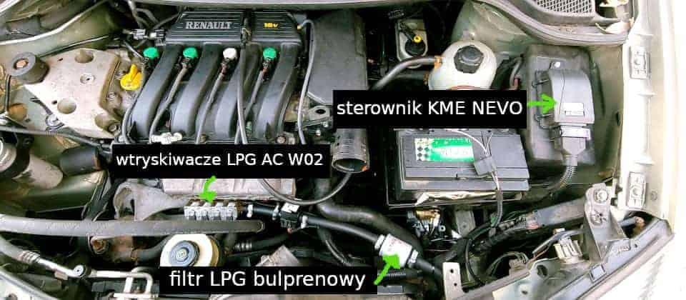 Renault Scenic RX4 instalacja gazowa LPG KME Nevo