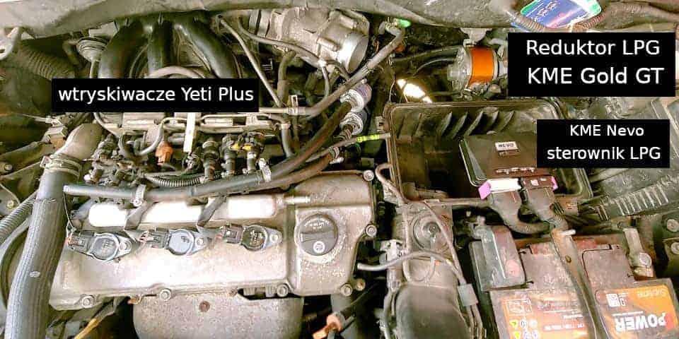 Luxus RX330 elementy składowe instalacji LPG