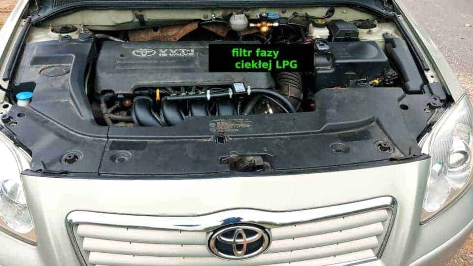 Toyota Avensis wymiana filtrów LPG