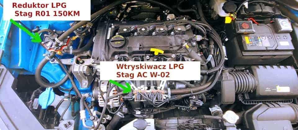 Podzespoły instalacji LPG reduktor i wtryskiwacze AC W02