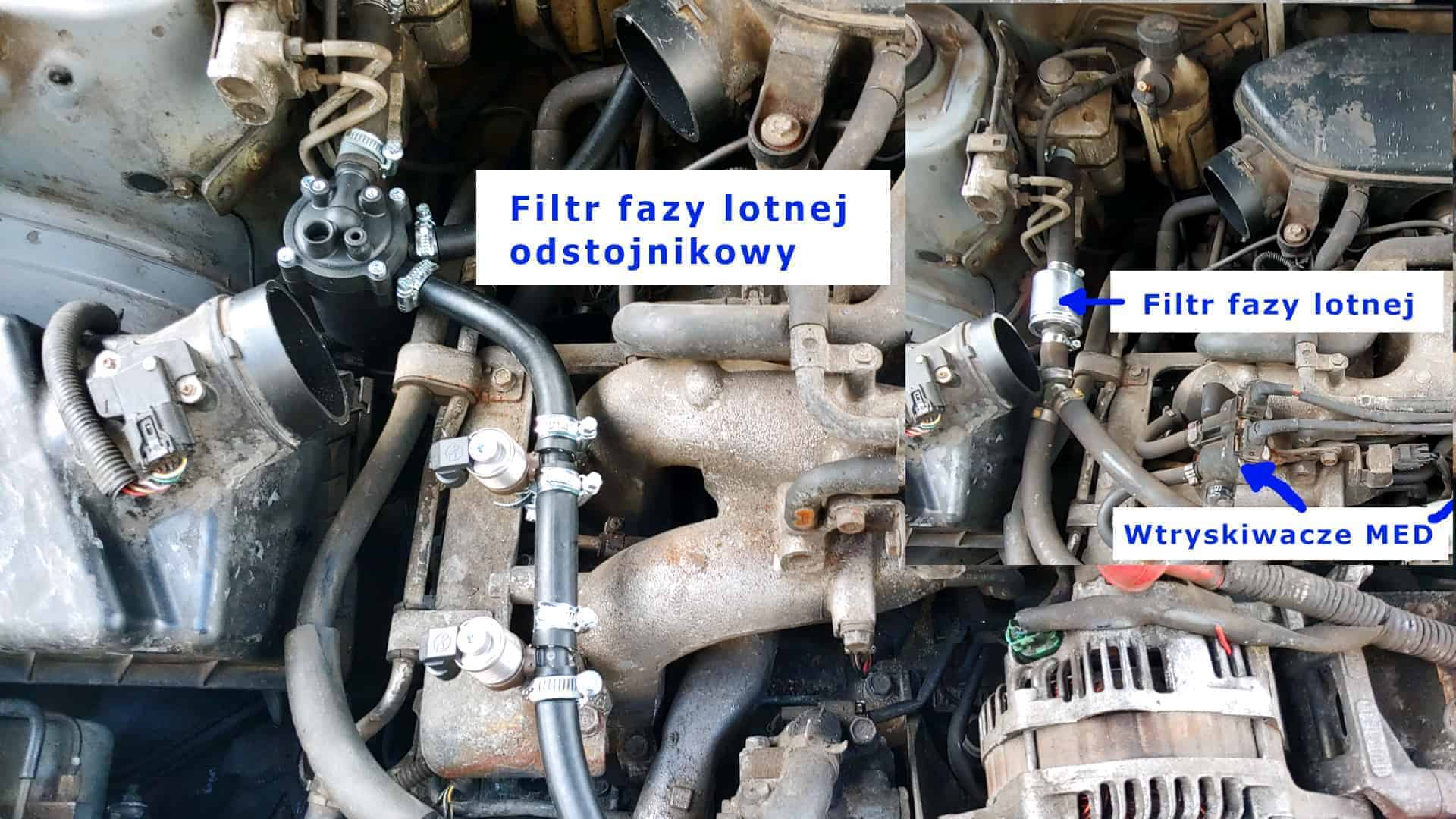 Filtr fazy lotnej Czaja Blaster, filtr odstojnikowy