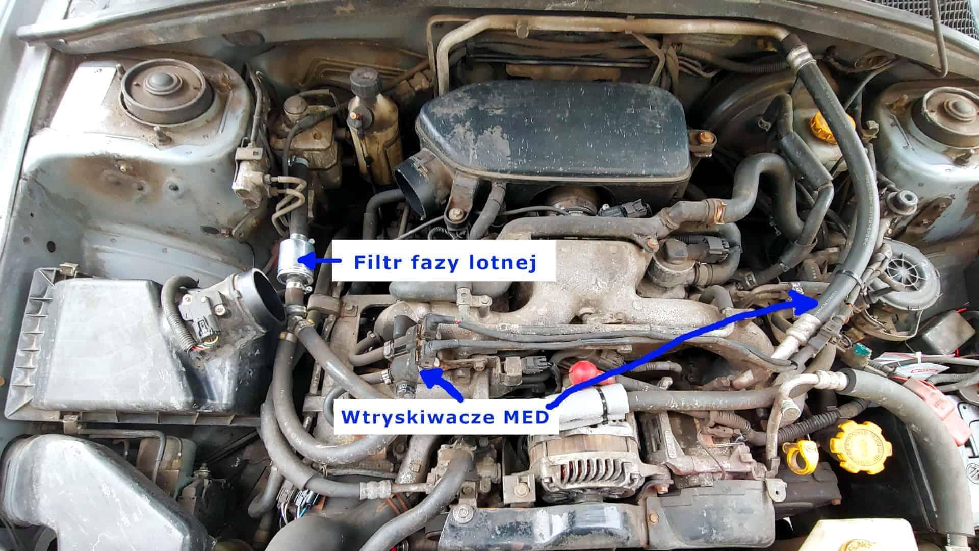 Stare wtryskiwacze MED w Subaru Forester