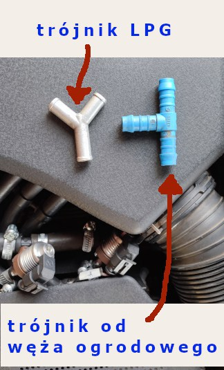 trójnik do instalacji LPG